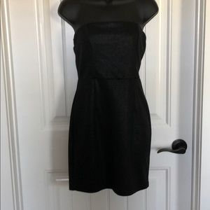 Strapless Forever 21 black dress